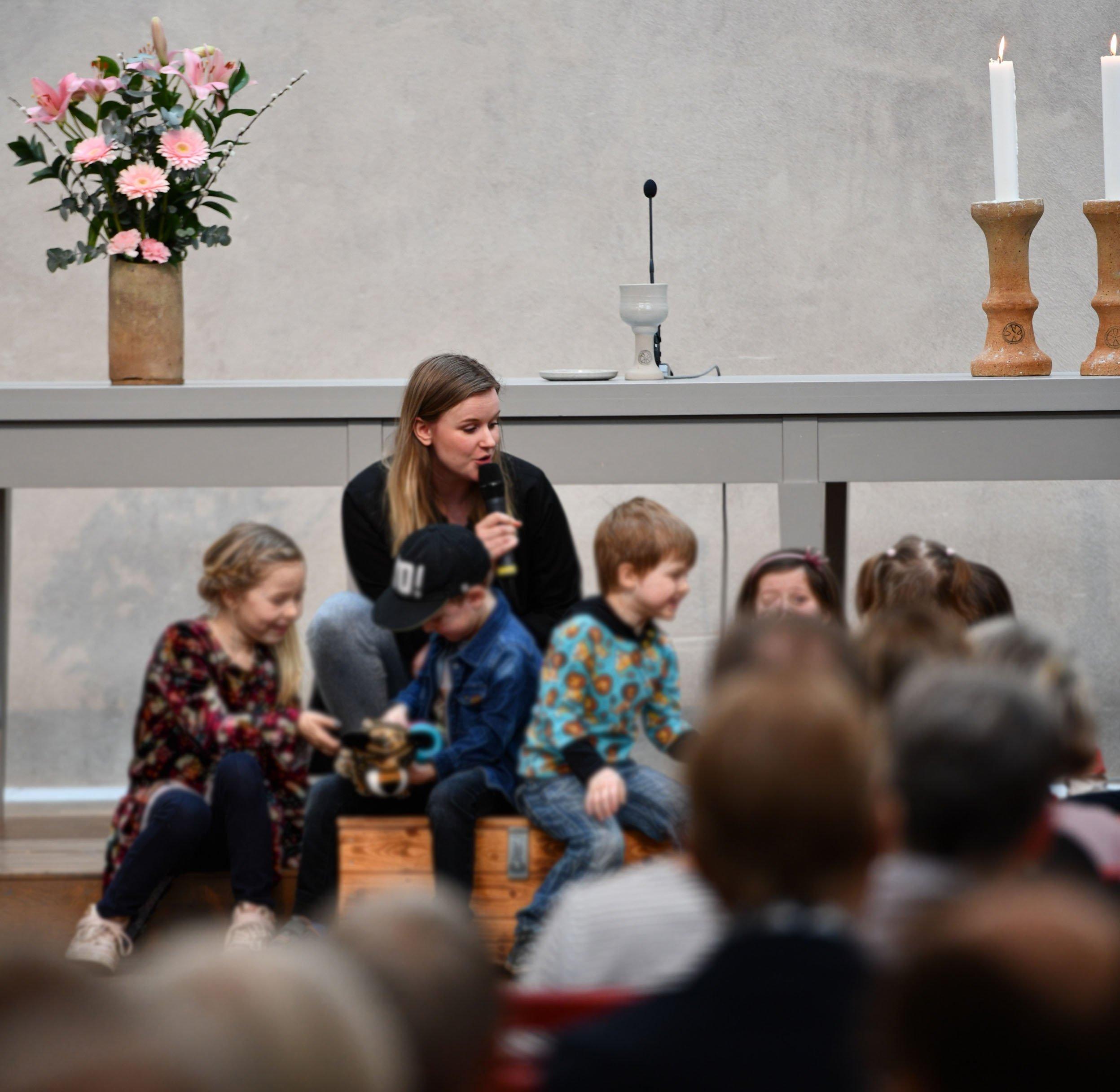 Barnruta innan söndagsskola i Linköping