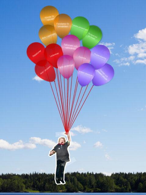 Målspår ballonger scout