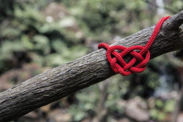 Repet. Ett rep i form av ett hjärta.