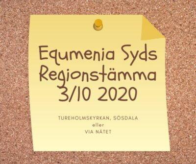 Välkommen till Equmenia Syds regionstämma i Tureholmskyrkan i Sösdala eller via nätet!
