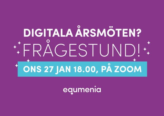Frågestund om digitala årsmöten