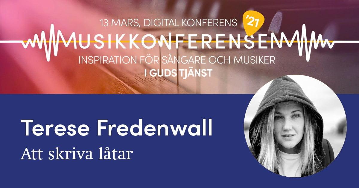 Therese Fredenwall håller seminarium om att skriva låtar på årets digitala Musikkonferens.